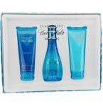 Davidoff Cool Water Edt Spray 3.4 Oz & Body Lotion 2.5 Oz & Shower Gel 2.5 Oz