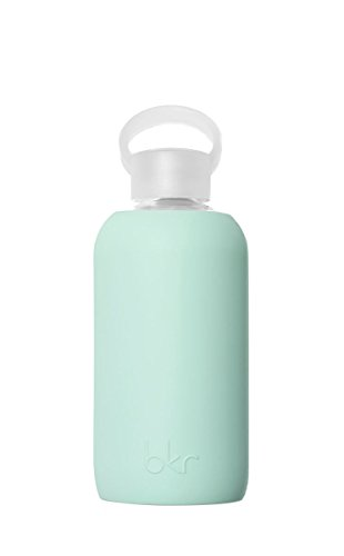 bkr 500mL Medium Glass Water Bottle With Food Grade, BPA-Free Silicone Sleeve - Lou (Takeya Glass Water Bottle compare prices)
