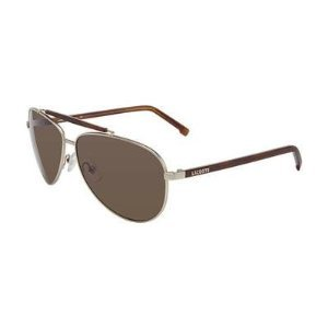 Lacoste L Satin Gold Aviator Sunglasses 123S 757