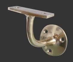 Frelan Handrail Bracket Satin Chrome Projection 64mm JV85HASC