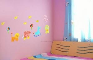 Easy Instant Decoration Wall Sticker Decal -Funky Animals
