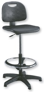 Trexus Lab High Chair Gas Lift Seat W470xD430xH530-785mm Black
