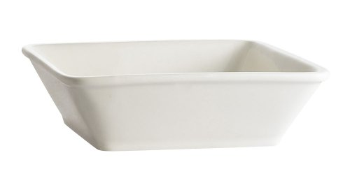 CAC China F-CB6 Paris-French Square 5-Inch 10-Ounce Super White Porcelain Thin Deep Bowl, Box of 36