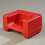 "Carlisle 711005 Polyethylene Extra Strong Booster Seat, 15-1/2"" Length X 12-1/2"" Width X 8"" Height, Red (Case Of 4) front-669419"