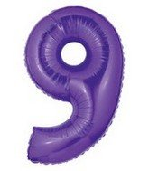 "1 X 40"" Large Number Balloon 9 Purple - 1"
