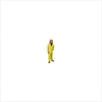 Yellow Luminator 0.35 mm Polyester Rain Suit With Welded Seams, Detachable Drawstring Hood, Snap Wrists, Ankles and Waist, Reinforced Crotch, 2 Patch Pockets, Silver Reflective Strips Around Jacket