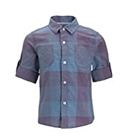 Autograph Pure Cotton Checked Shirt