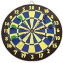 "15"" Wooden Dart Board with Darts - 1"