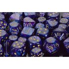 Chessex Dice: Polyhedral 7-Die Lustrous Dice Set - Purple W/Gold