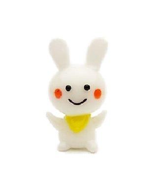 [Japanese Moon Rabbit Lemon Bib Napkin Ver. Mascot Handmade Frosted Glass Smiley Face Folklore Decorative] (Ninja Turtle Face Painting)
