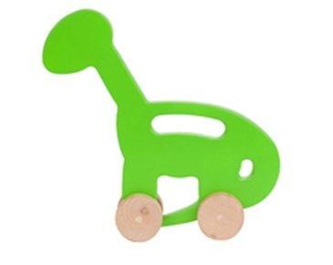 DINO wooden push toy