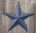 16 Inch Rustic Whale Blue Barn Star Made with Galvanized Metal to Prevent Rusting. Amish Hand Made Your Source for Heavy Duty Metal Tin Barn Stars and Primitive Style Stars for Your Country Crafts and Home and Garden Decor. American Handcrafted - Made in