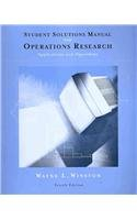 Student Solutions Manual for Winston's Operations...