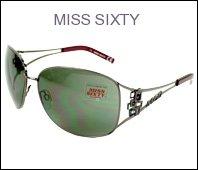21nFBveqBeL Miss Sixty Sunglasses MX637S 08A Metal Rhinestones Gun