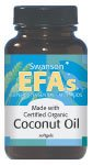 Certified Organic Coconut Oil 1,000 mg 60 Sgels by Swanson EFAs