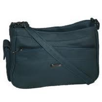 Sofia Leather Shoulder Grab Handbag, Navy