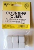 6 Blank Counting Cubes