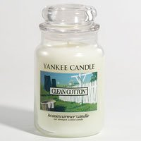 Yankee Candles Clean Cotton 22oz (623.7g) Large Jar Housewarmer by Yankee Candles