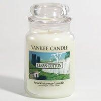 Yankee Candles Clean Cotton 22oz (623.7g) Large Jar Housewarmer