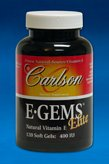 Carlson Labs - E•Gems® Elite 400 Iu 120 Gels