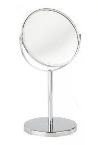 Wenko Large Chrome Swivel Free Standing Magnifying Cosmetic Shaving Bathroom Mirror