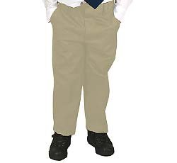 French Toast Uniforms Boys' Slim Double Knee Pant (Khaki 4 Slim)