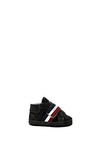 Sneakers Moncler Bambino Camoscio Grigio e Multicolore PUXA90E071C60937 Grigio 17EU