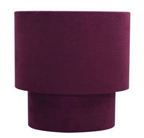 Suede Effect Two Tier Lamp Shade For Pendant Ceiling Lights. Aubergine Colour by Homebase