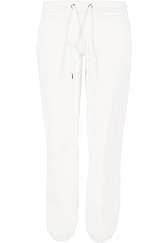 Urban Classics - Jogginghose Quilt Jogging Pants, Pantaloni sportivi Donna, Bianco (Offwhite), Large (Taglia Produttore: Large)