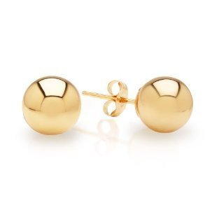 14k-Yellow-Gold-Ball-Stud-Earrings-pushback-3-4-5-6-7-8-10-12-14-MM