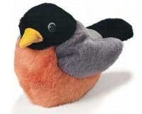 Wild Republic WR77361 Backyard Bird Bean Bag Robin - Plush Toy