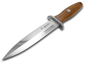 Boker USA Applegate Fighting Commemorative Fixed Blade Knife,6in Steel Blade,Rosewood Handle