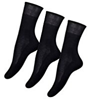 3 Pairs of Cotton Rich Ultimate Comfort Socks