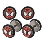 Body Accentz™ Earrings Rings Fake Spiderman Cheater Plug 16 gauge - Sold as a pair