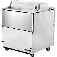 True Dual Sided S/S And White Vinyl 13.8 Cu Ft Milk Cooler - TMC-34-DS-SS