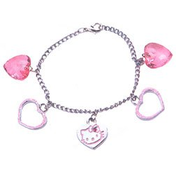 Pink Hello Kitty Charm Bracelet