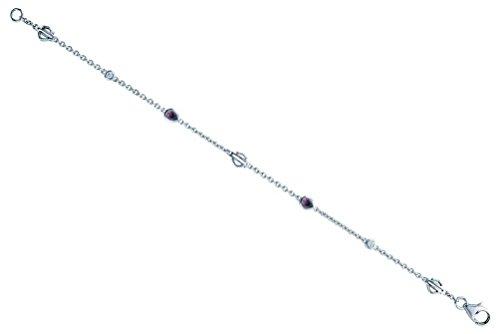 Harley-Davidson Women's Rhodolite Crystal Teardrop B&S Bracelet, HDB0355 (7.75) (Rhodolite Crystal compare prices)