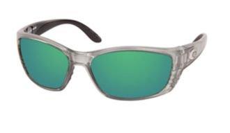 67bc5e931a63e Costa Del Mar Sunglasses - Fisch- Glass   Frame  Silver Lens  Polarized  Green Mirror Wave 580