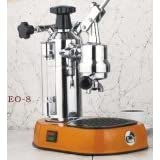La Pavoni Europicolla EO-8 Espresso Machine with Orange Base