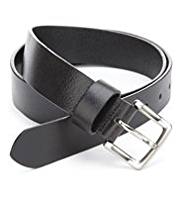M&S Collection Leather Square Buckle Belt