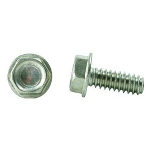 Type F Hex Head Pack of 50 Zinc Plated Steel Thread Cutting Screw Slotted Drive 3//4 Length 1//4-20 Thread Size