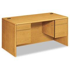 * 10700 Series Desk, 3/4-Height Double Pedestals, 60w x 30d x 29-1/2h, Harvest