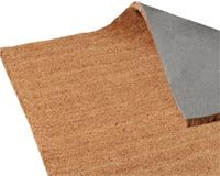 Plush Coir Roll Matting 100x150cm. Natural. Delivered Free with a 100% Satisfaction Guarantee by Mats4U.