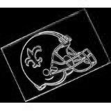 NFL- New Orleans Saints Helmet Neon Light Sign (White) by scopewise co