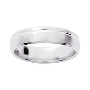 So Chic Jewels - 9k White Gold 5 mm Fantasy Pattern Wedding Band Ring