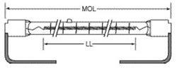Cheap Ushio QIH570-3800/VS 3800W 570V Quartz Infrared Halogen Lamp