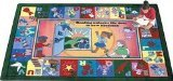 "Joy Carpets Kid Essentials Language & Literacy Read and Rhyme Rug, Multicolored, 5'4"" x 7'8"""