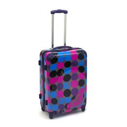 Roxy Wheeled Luggage Hard Case - Belong2Me Blue Pink Spots