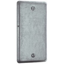 Steel City 58C1 Utility Device Cover, Raised, 4-Inch Length by 2-1/8-Inch Width, Galvanized by Thomas & Betts