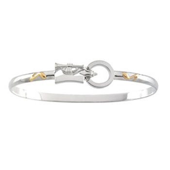 14K Silver Montesino New Orleans Destination Bracelet - 6.5 Inches